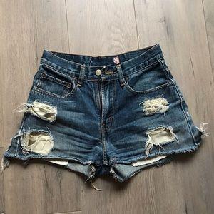 distressed vintage levis shorts